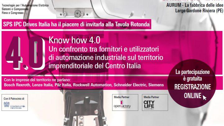 Know how 4.0: un confronto tra fornitori e utilizzatori di automazione industriale sul territorio imprenditoriale del Centro Italia